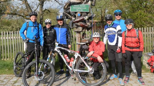 Rennsteig-MTB-Tour: Start in Hörschel