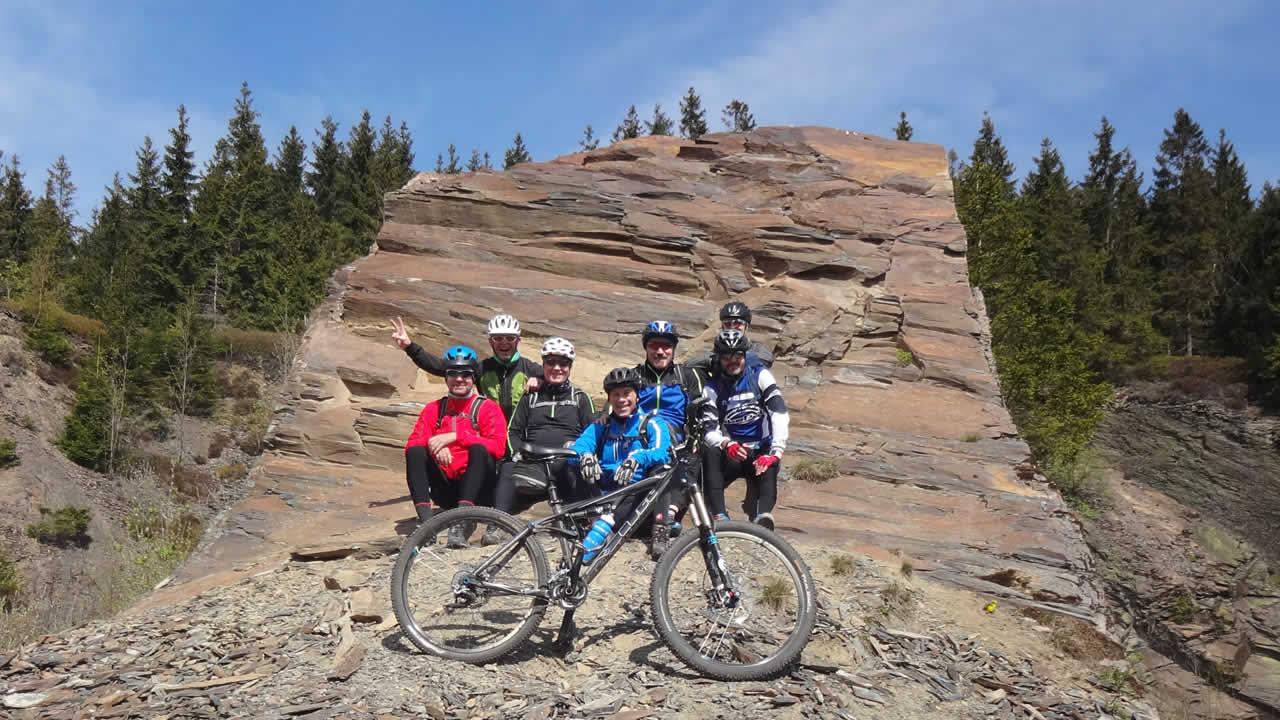 Willkommene Mountainbike-Pause