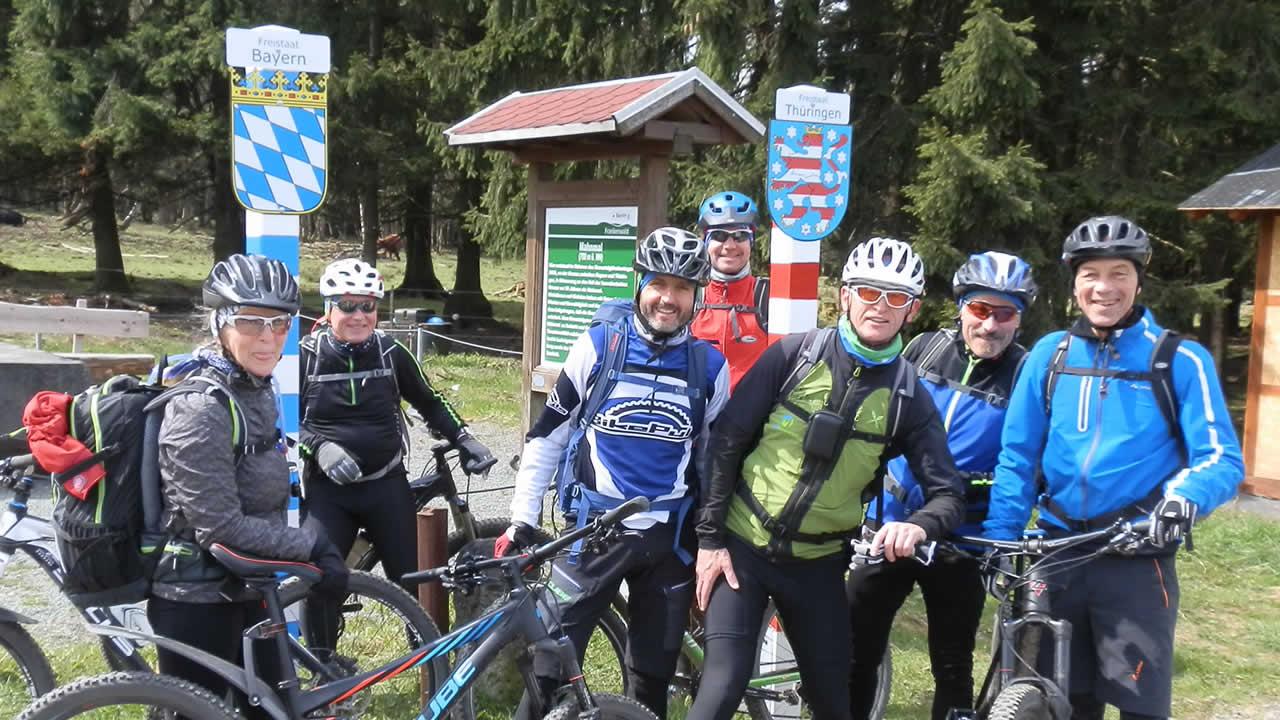 Rennsteig-MTB-Tour: Fast am Ziel