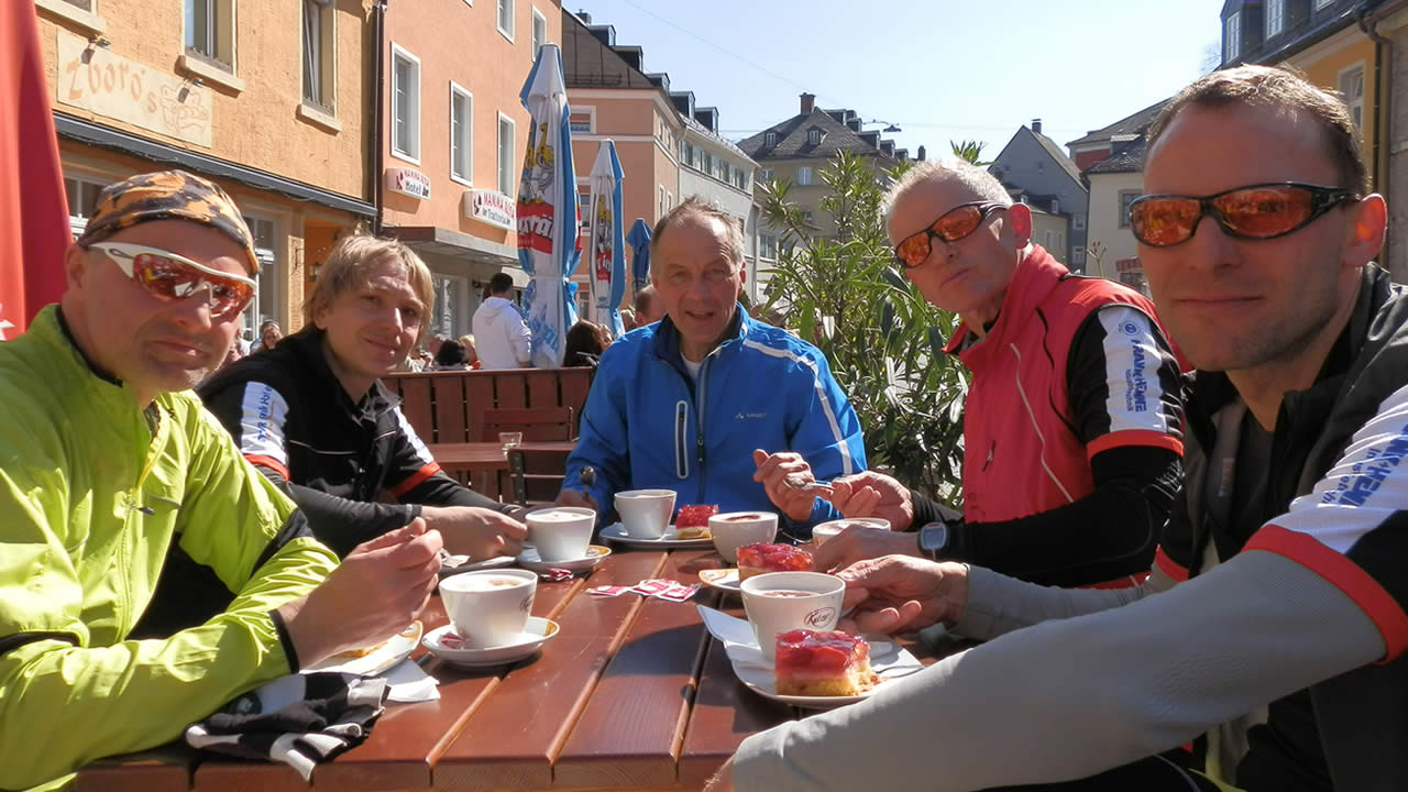 Cappuccino-Pause in Wunsiedel