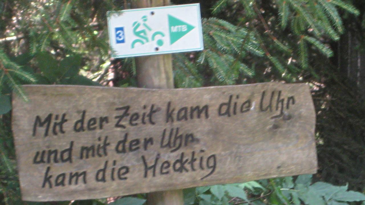 Mountainbiken bildet - Frankenwald-MTB-Route Rennsteig Süd