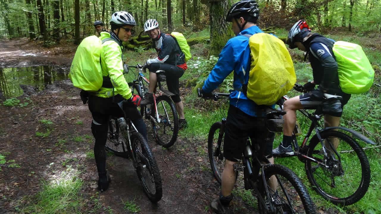 Spessart-MTB 2014: Rock im Wald