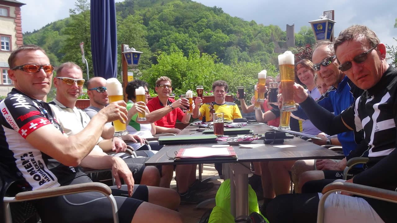 Spessart-MTB 2014: Rock im Wald - Mittagspause