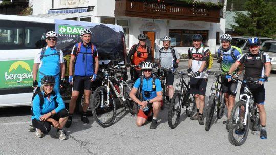 Tolle Truppe: Mountainbike Karwendel und Wetterstein